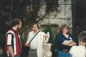 Ian Randal Strock, Joseph J. Lazzaro, and Cindy Lazzaro in Brooklyn, New York, June, 1995.